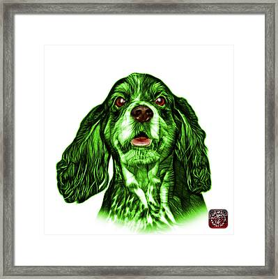 Green Cocker Spaniel Pop Art - 8249 - Wb Framed Print