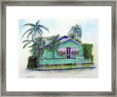 Green Cottage Framed Print by Loretta Luglio