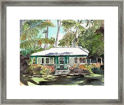 Green Cottage Framed Print