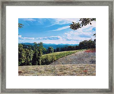 Framed Print featuring the painting Green Country by Joshua Martin