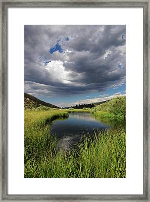 Green Creek 2 By Frank Hawkins Framed Print