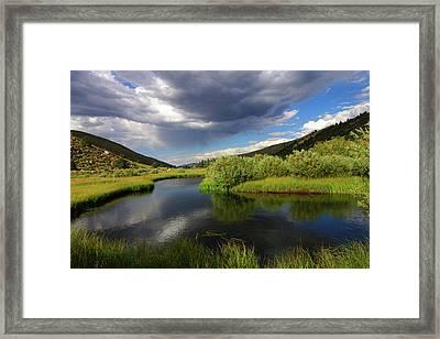 Green Creek By Frank Hawkins Framed Print