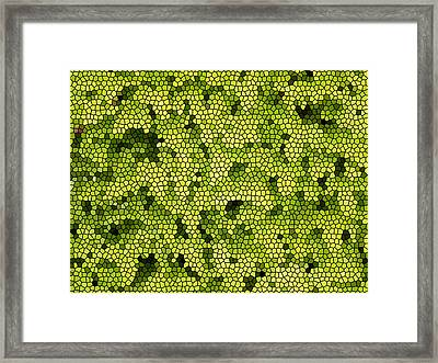 Green Curtain Framed Print by James Granberry