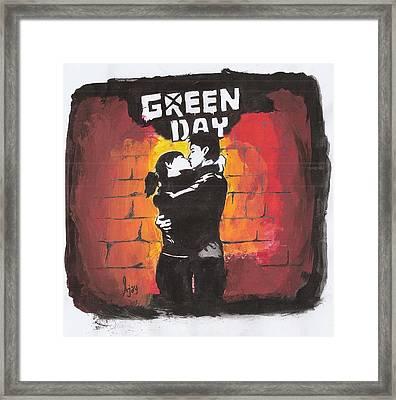 Green Day Framed Print by Ajay Atroliya