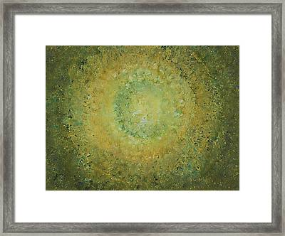 Green Day Original Painting Framed Print by Sol Luckman
