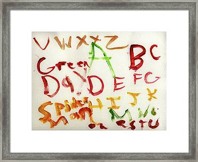 Green Day Framed Print by Vincent Gitto