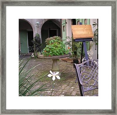 Green Door 25 Framed Print by Tom Hefko