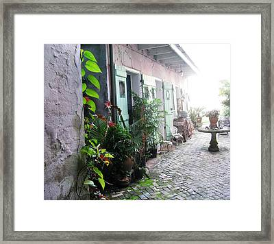 Green Door 8 Framed Print by Tom Hefko