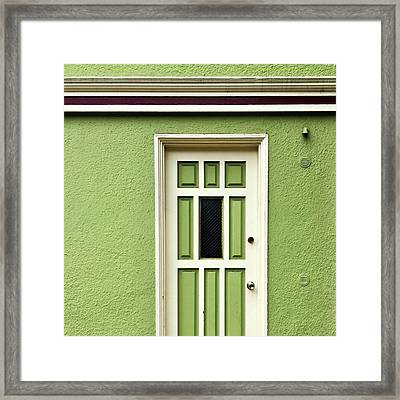 Green Door Detail Framed Print