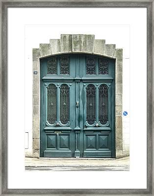 Green Door Framed Print by Helen Northcott