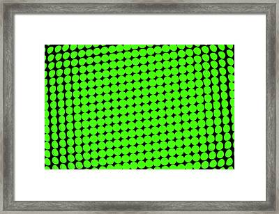 Green Dots Background Framed Print by Dutourdumonde Photography