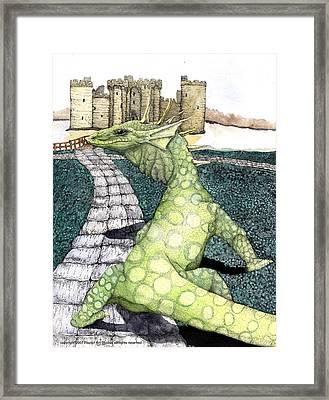 Green Dragon Framed Print by Preston Shupp