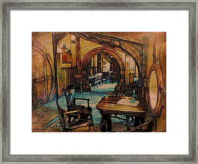 Green Dragon Writing Nook Framed Print