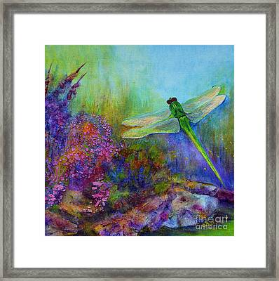 Green Dragonfly Framed Print