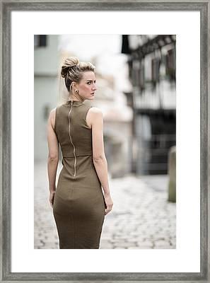 Green Dress Framed Print by Ralf Kaiser