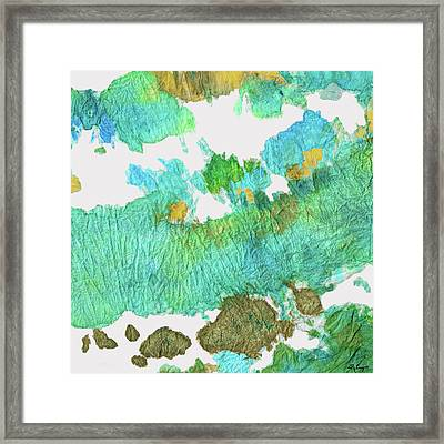 Green Earthy Abstract - Earth Dance - Sharon Cummings Framed Print