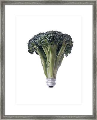 Green Electricity Framed Print
