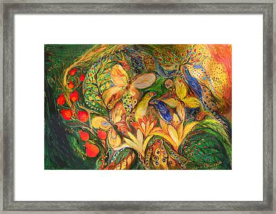 Green Emotion Framed Print by Elena Kotliarker