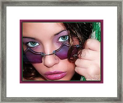 Green Eye'd Girl Framed Print