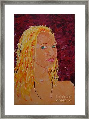 Green Eyed Lady  Framed Print
