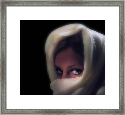 Green Eyes Framed Print by Don Wolf