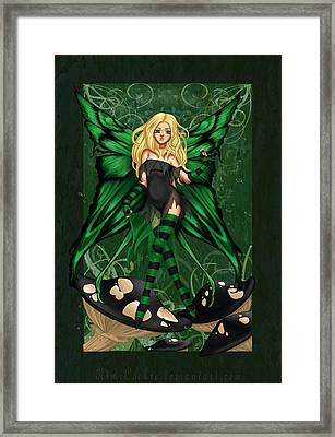 Green Fairy Of Poison Framed Print by KimiCookie Williams