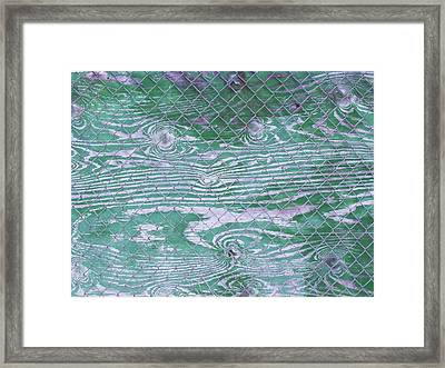 Green Fence Framed Print by Anna Villarreal Garbis
