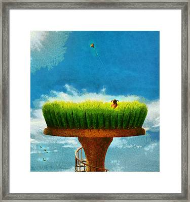 Green Field Framed Print by Leonardo Digenio