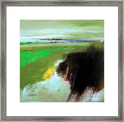 Green Field Framed Print by Mario Zampedroni