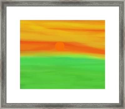 Green Field Summer Sunset Framed Print by Dan Sproul