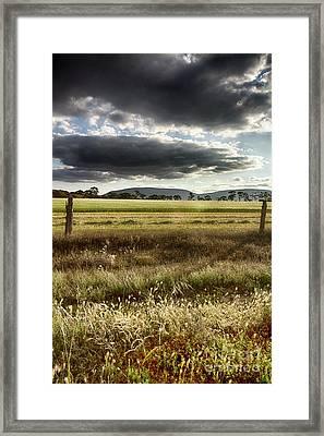 Framed Print featuring the photograph Green Fields 6 by Douglas Barnard