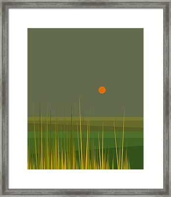 Green Fields After The Rain Framed Print by Val Arie