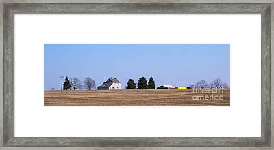 Green Fields Coming Framed Print by Ann Horn