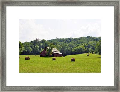 Green Fields Framed Print by Jan Amiss Photography