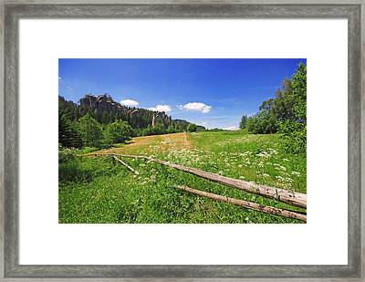 Green Fields Framed Print by Jaroslaw Grudzinski