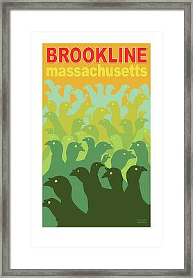 Green Fields Of Brookline Framed Print
