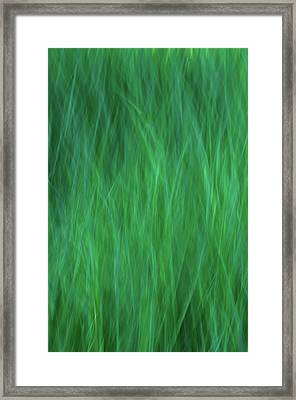 Green Fire 2 Framed Print