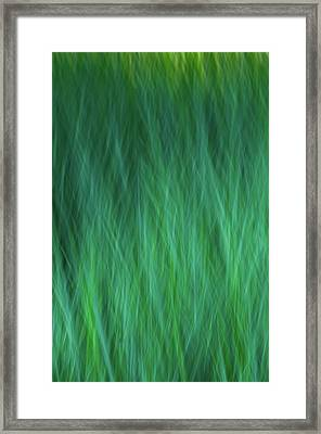 Green Fire 3 Framed Print