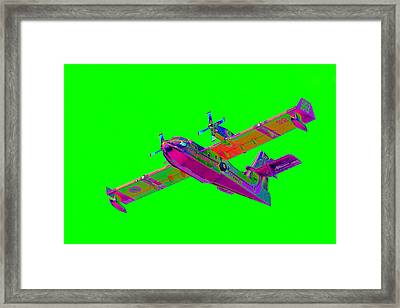 Green Fire Flight  Framed Print