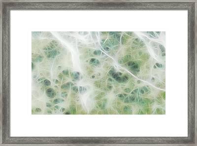 Green Floss Nebula Framed Print