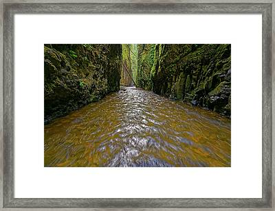 Framed Print featuring the photograph Green Flow by Jonathan Davison
