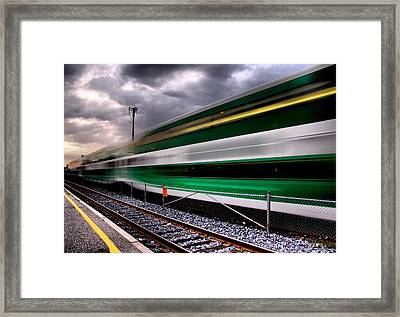 Green For 'go'...  Framed Print by Russell Styles