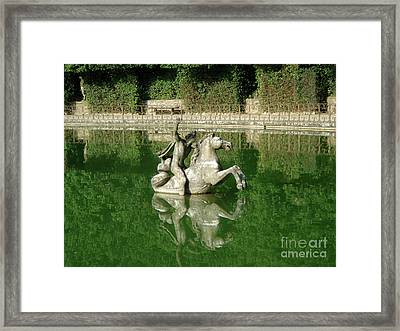 Green Fountain Framed Print by David Shaffer