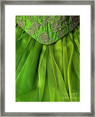 Green Frock Framed Print by Mexicolors Art Photography