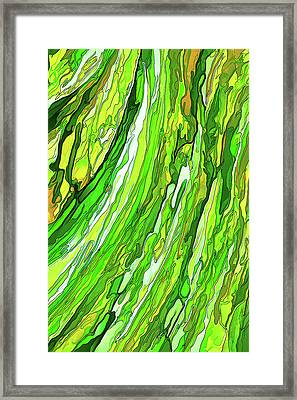 Green Garden Framed Print by ABeautifulSky Photography
