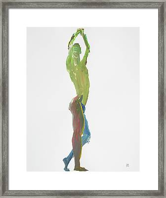 Green Gesture 1 Profile Framed Print by Shungaboy X