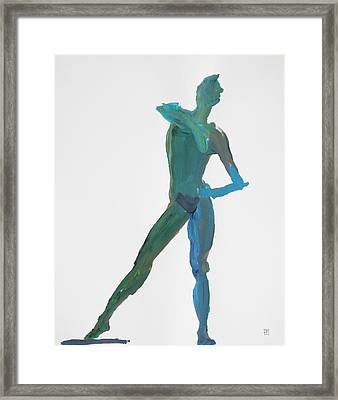 Green Gesture 2 Pointing Framed Print