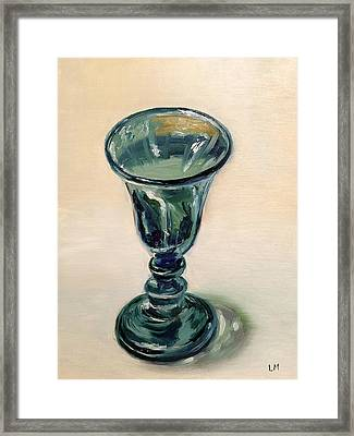 Green Glass Goblet Framed Print