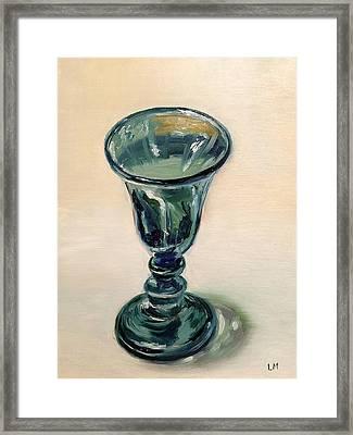 Green Glass Goblet Framed Print