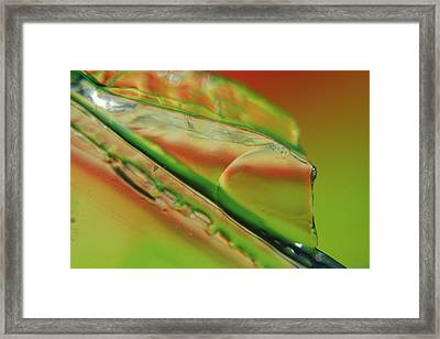 Green Glaze Framed Print